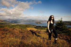 Walking on the John Muir way, above Loch Lomond