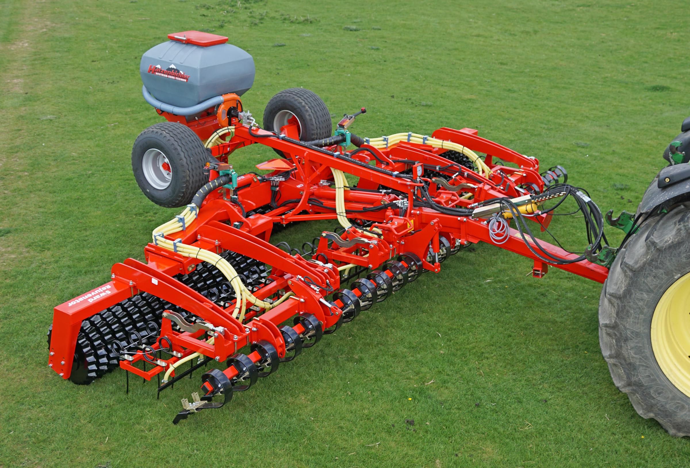 BIG WORKER Opico's 6.3m Sward Rejuvenator
