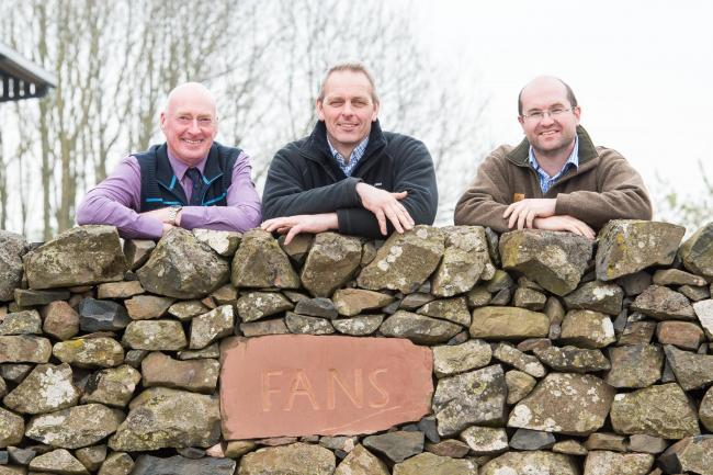 Getting ready for Scotland's Beef Event at Fans, from left, Scottish Beef Association chairmain Neil McCorkindale, host farmer Douglas Stewart and organising committee chairman, Sion Williams