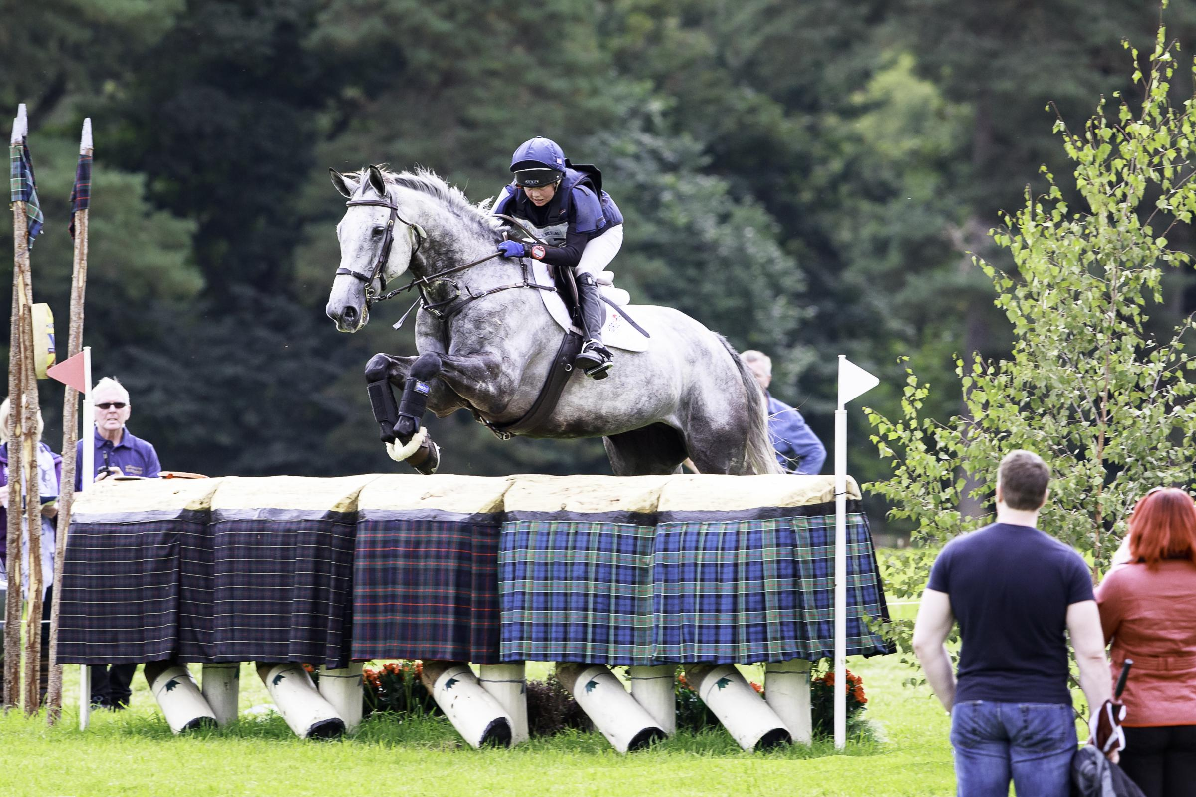 Never a dull moment – Jason Wood rides Te Causeway in the CCI2* Cross Country at last year's Blair Castle Interntional Horse Trial