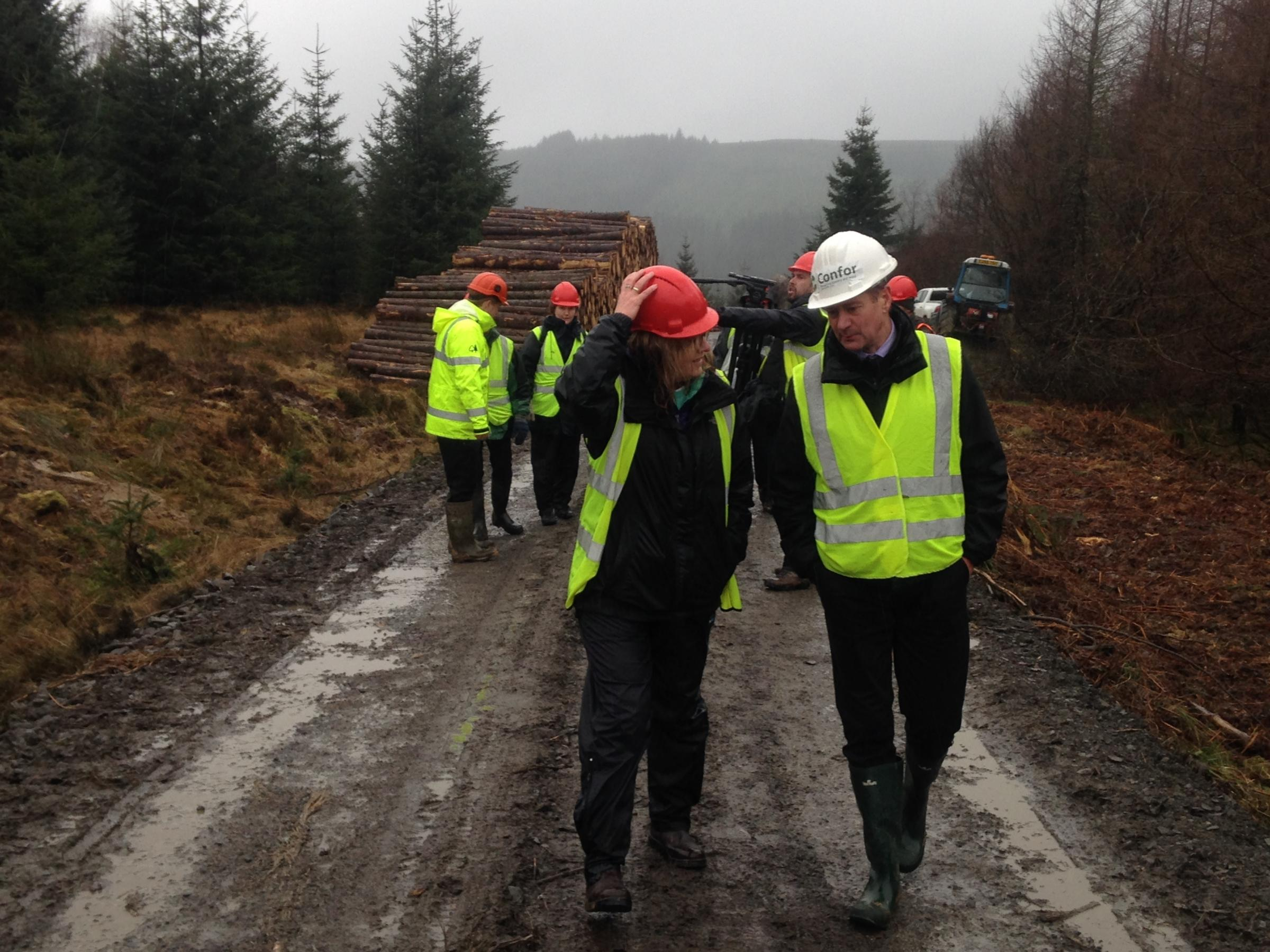 CONFOR CHIEF executive Stuart Goodall being interviewed in Keilder Forest