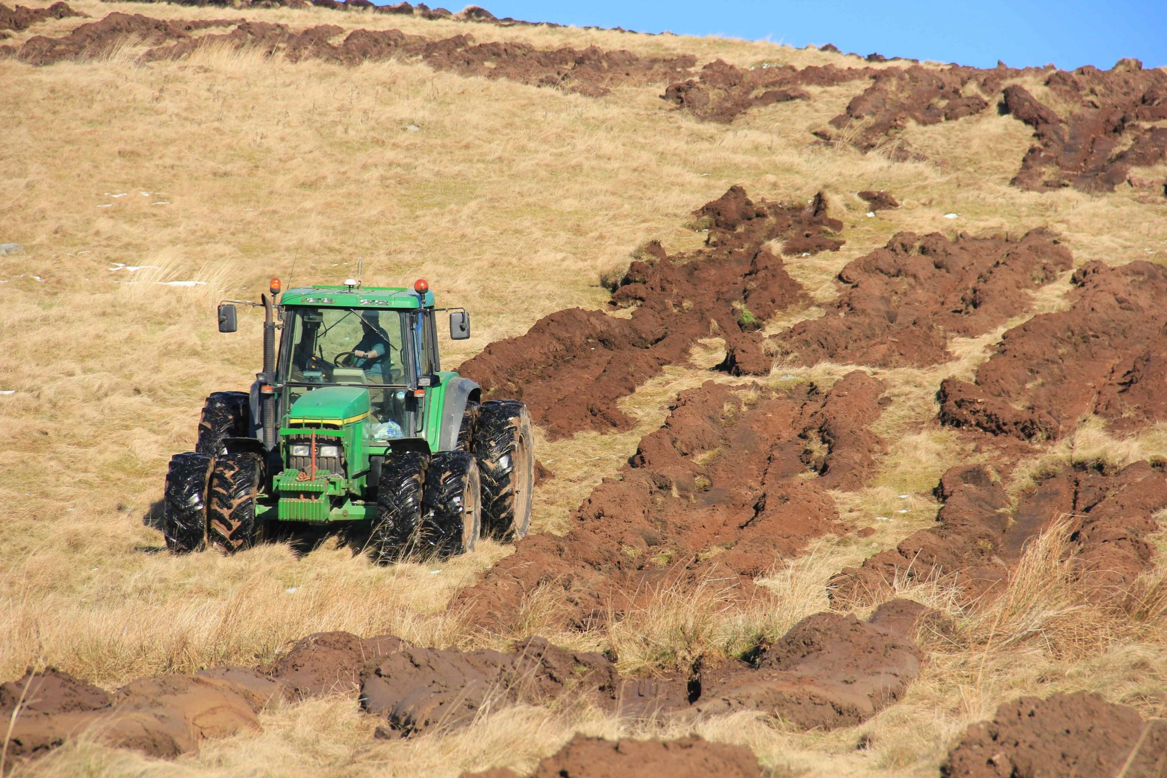 Ploughing hill ground for forestry establishment