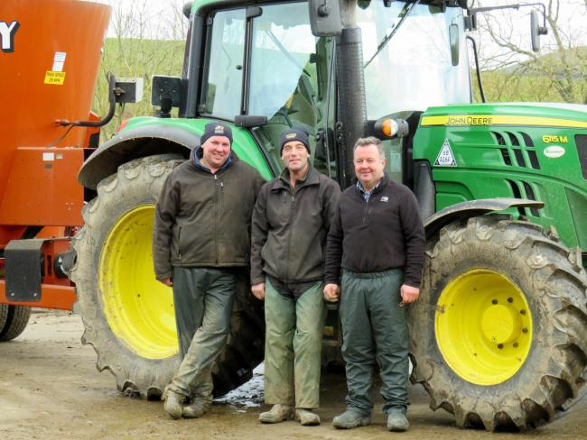 Buckholm team: stockman Andrew Johnston, shepherd Paul Charlton, and Les Robson (photos by Linda McGregor)