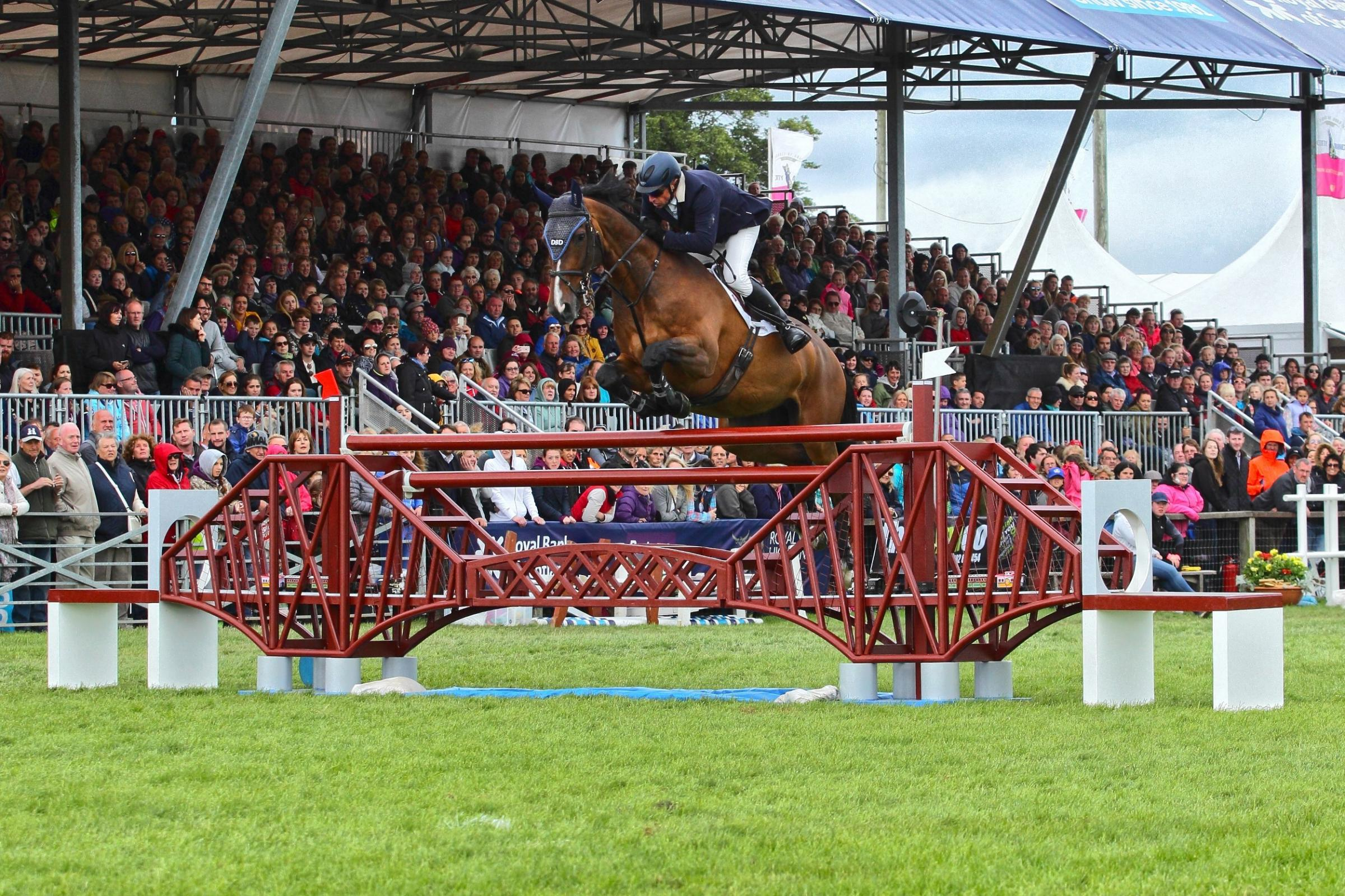 GRAND PRIX showjumping is a highlight of many spectators Royal Highland Show (Photo: Sinclair Photography)