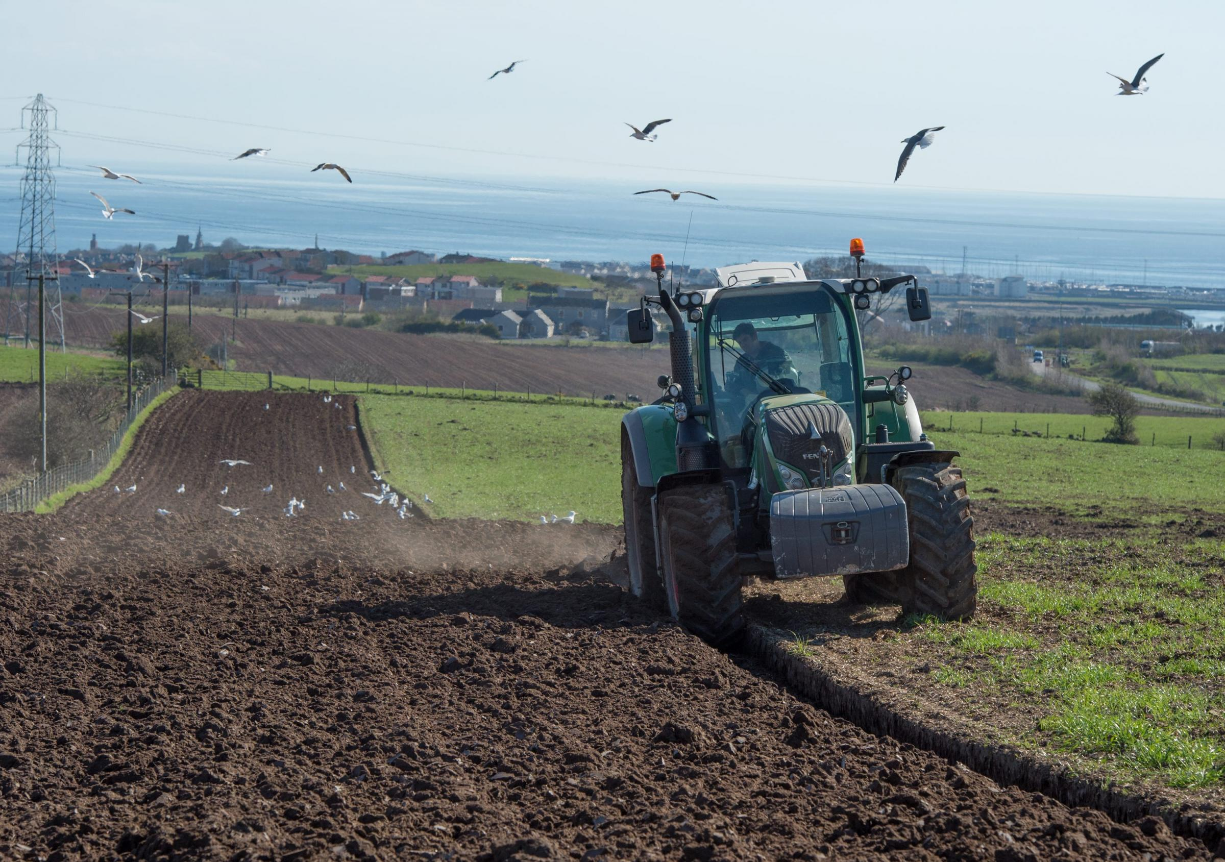 It's been a catch-up year for ploughing due to the snow and wet weather