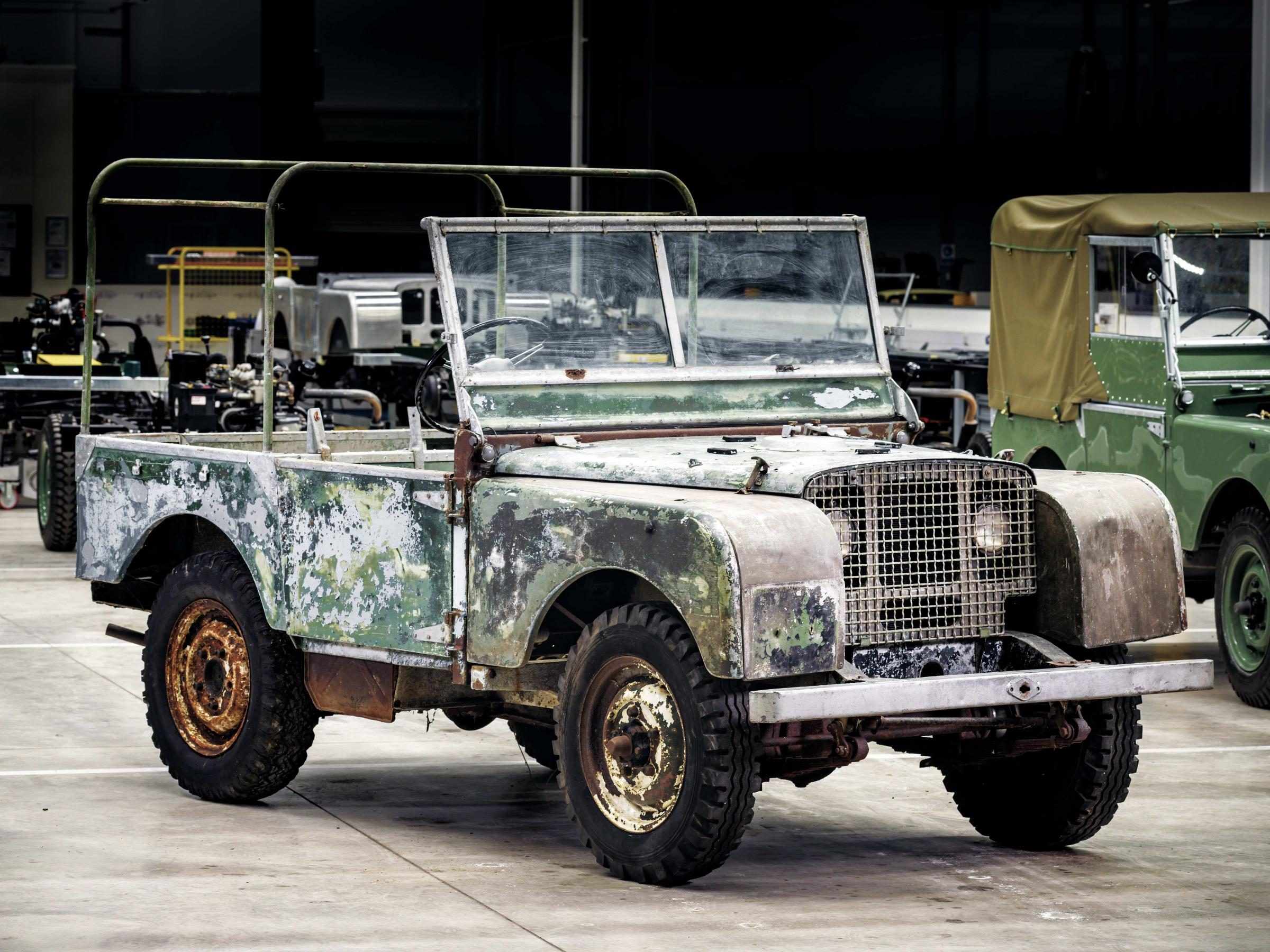 This pre-production Land Rover was used at the brand's launch in Amsterdam