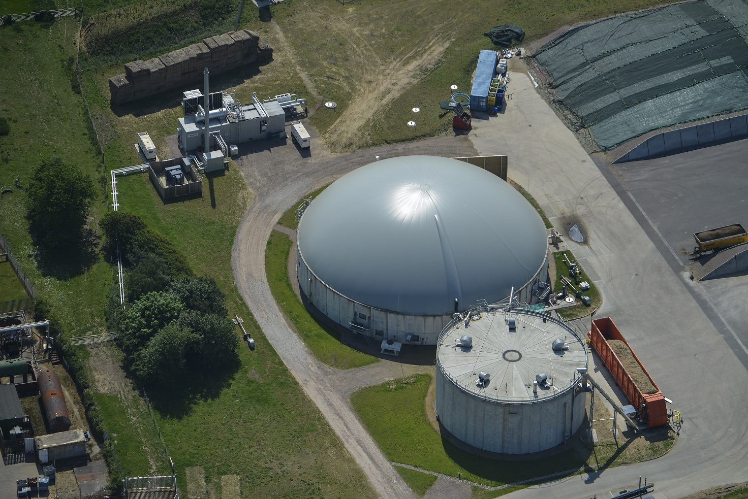 Anaerobic digestion, seen from above