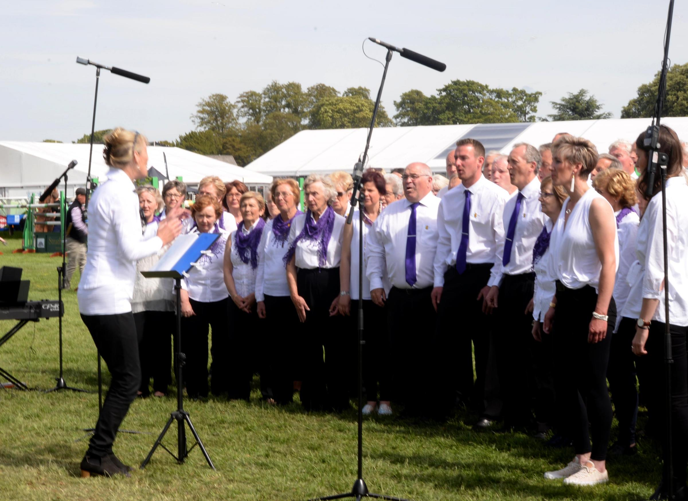 The choir performs throughout the year