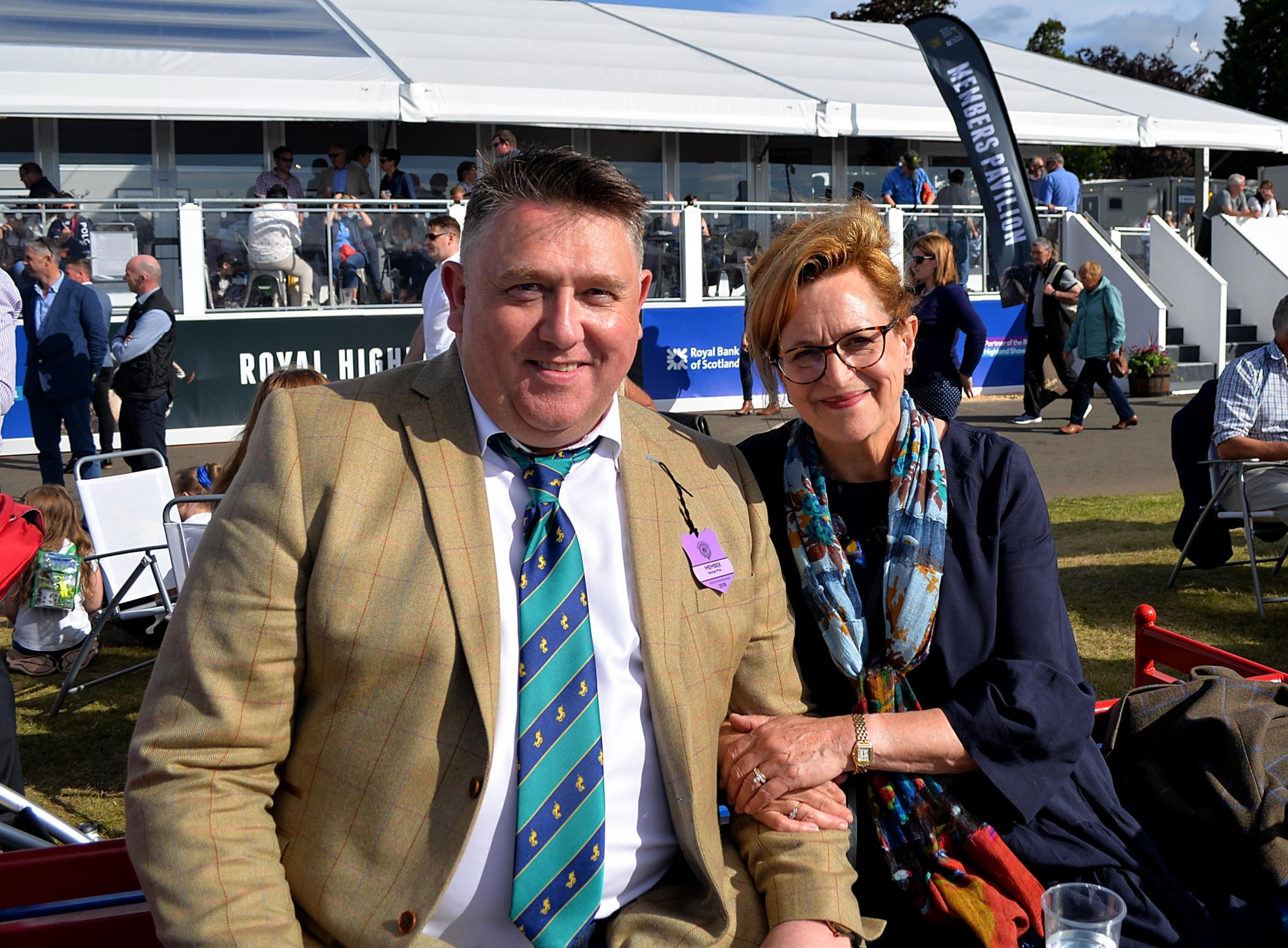 Barbara Dickson spent the day at the show with her friend George Pirie who showed her the highlights of the show on Friday