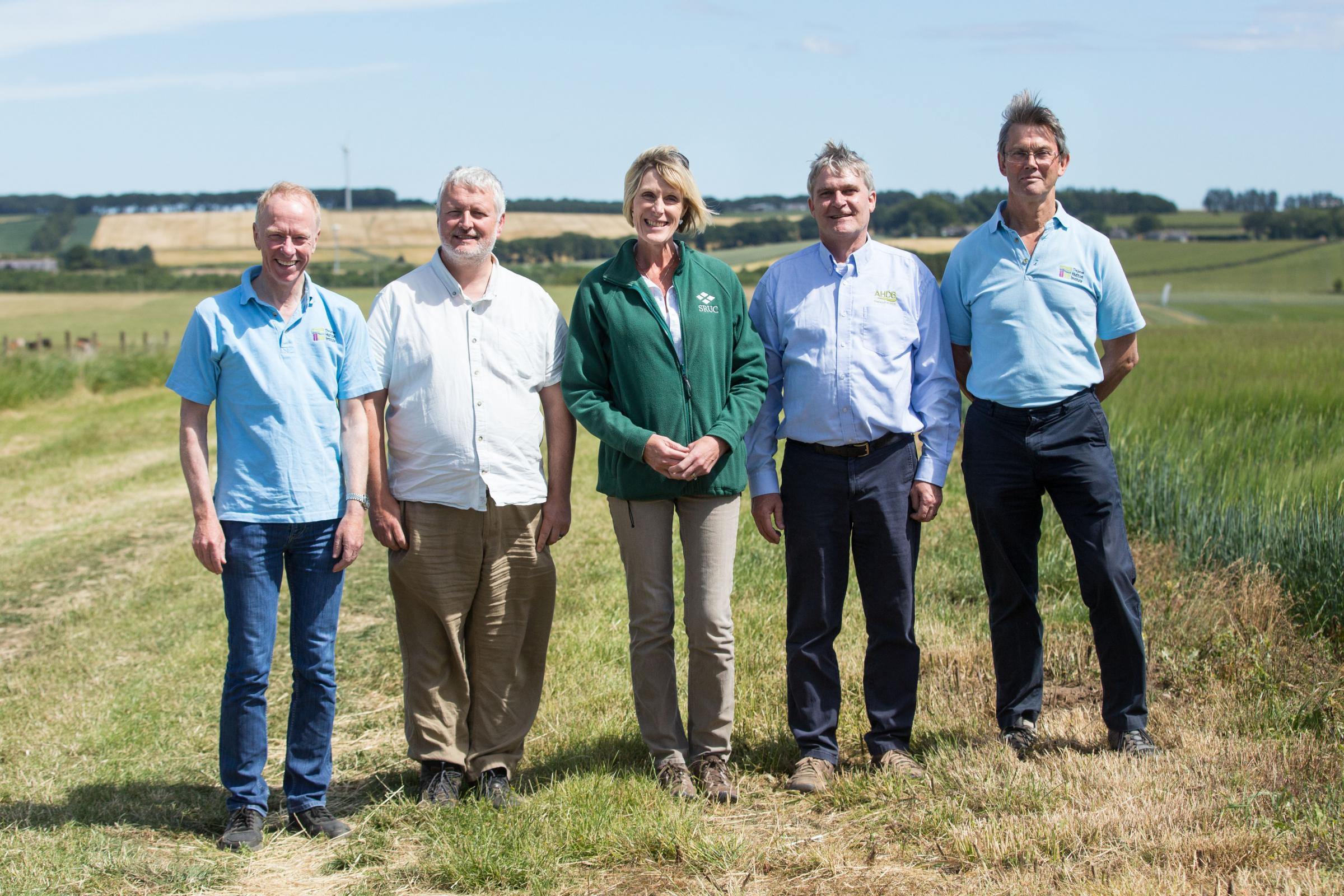 The speakers at this year's Cereals in Practice event held near Oldmeldrum