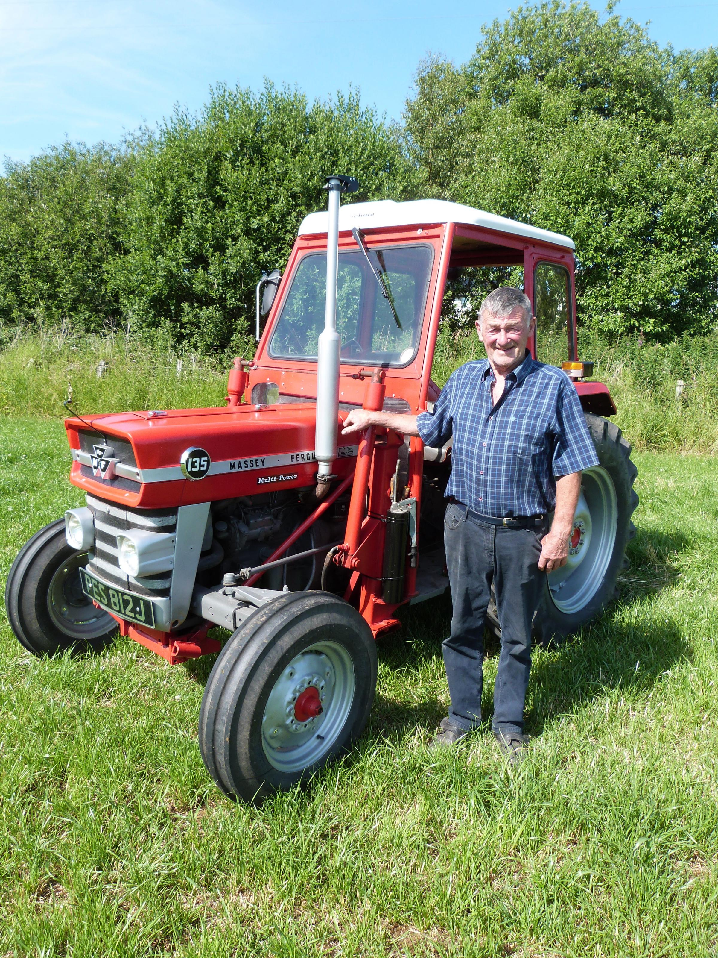 Jimmy Hutchison and his beloved Fergie tractor