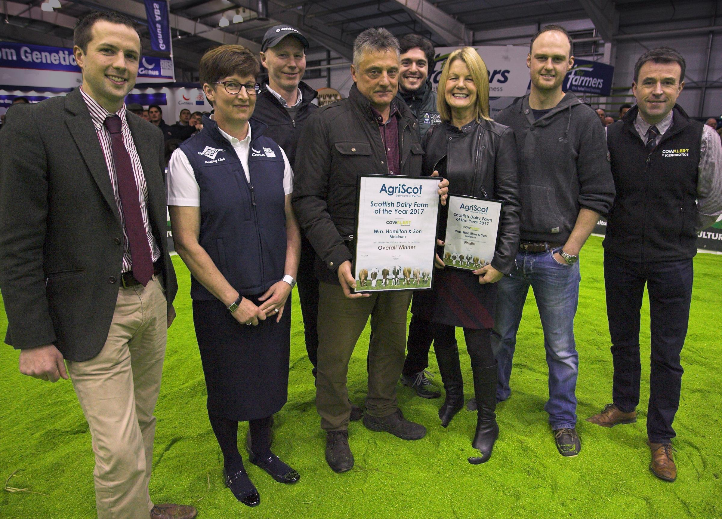 Stirlingshire's Meldrum Farm was the recipient of the 2017 Scottish Dairy Farm of the Year title