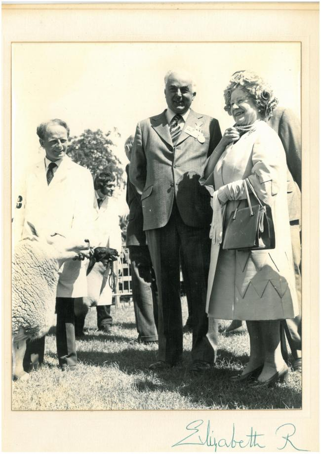 William Noss Clyne pictured with Her Majesty The Queen Mother