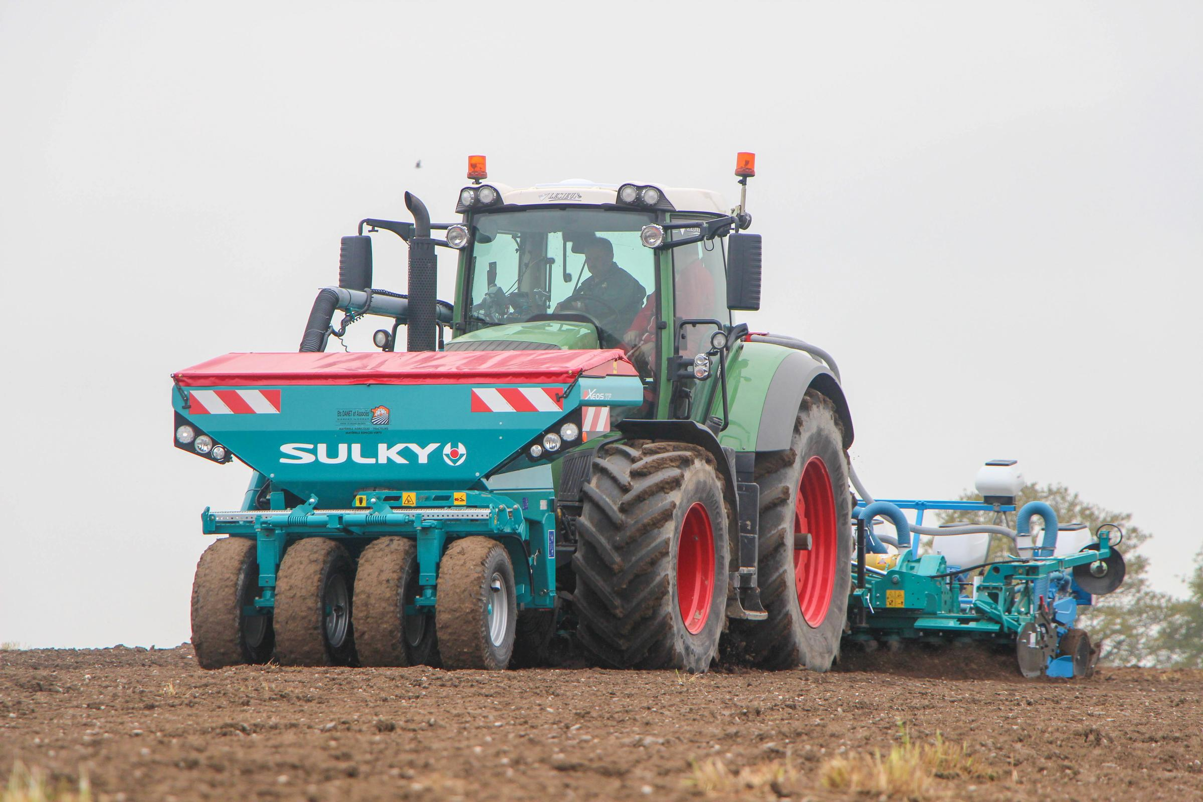 The Sulky Burel new Xeos TF drill will be shown working with the new Cultiline folding harrow at Tillage