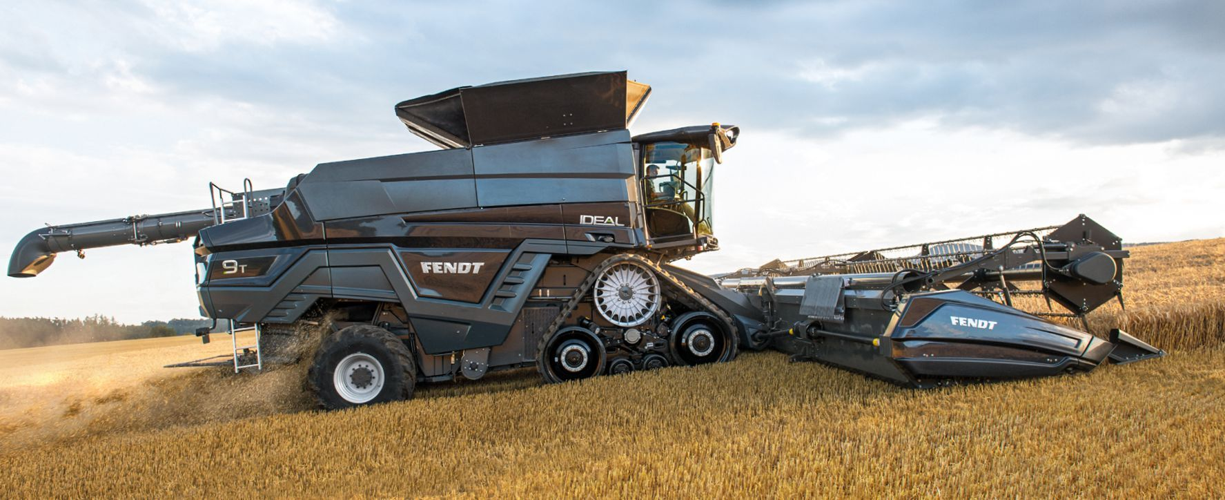 AGCO's new flagship combine working