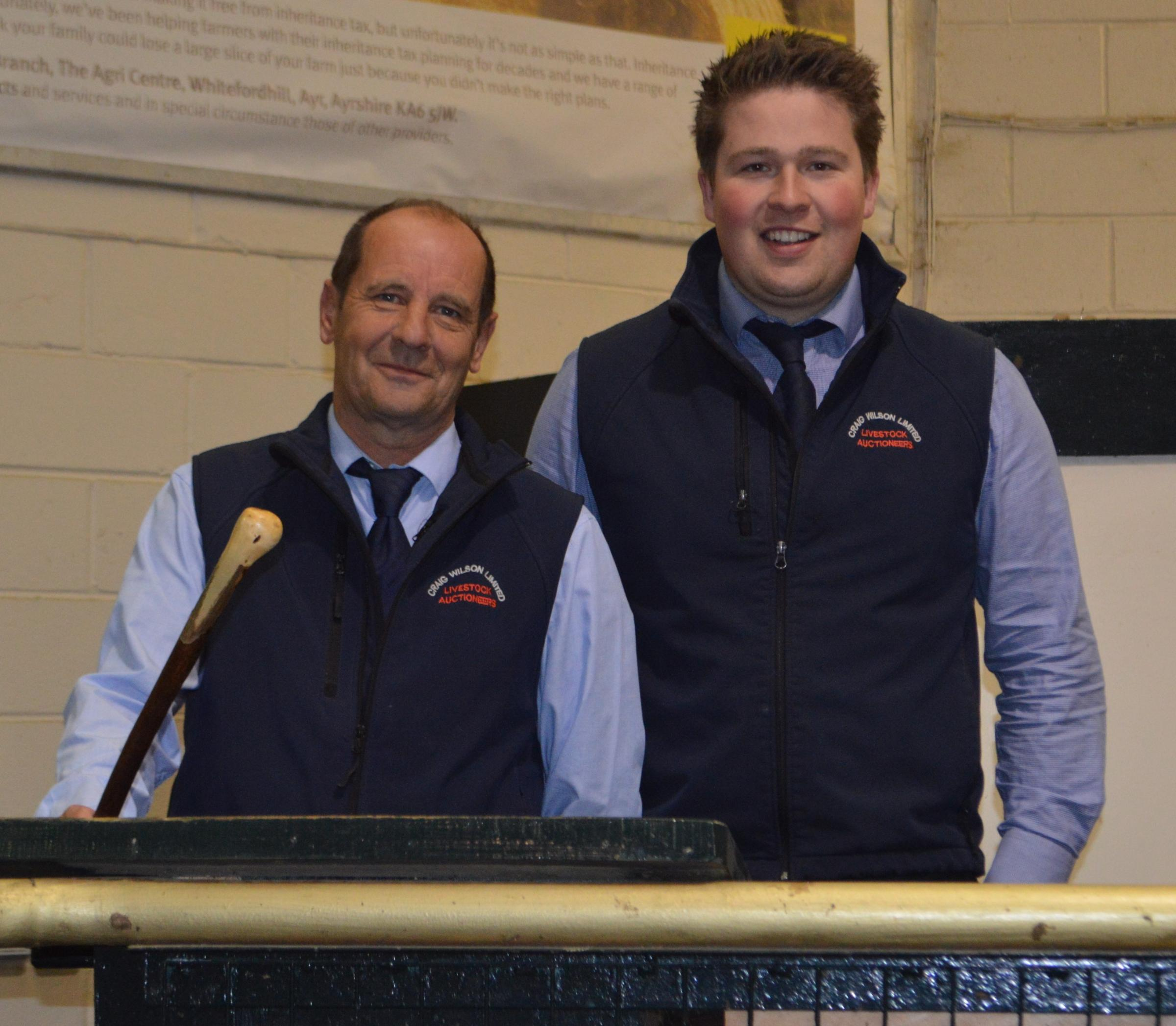 Livestock auctioneers for Craig Wilson Ltd - Willie Hamilton and Drew Kennedy