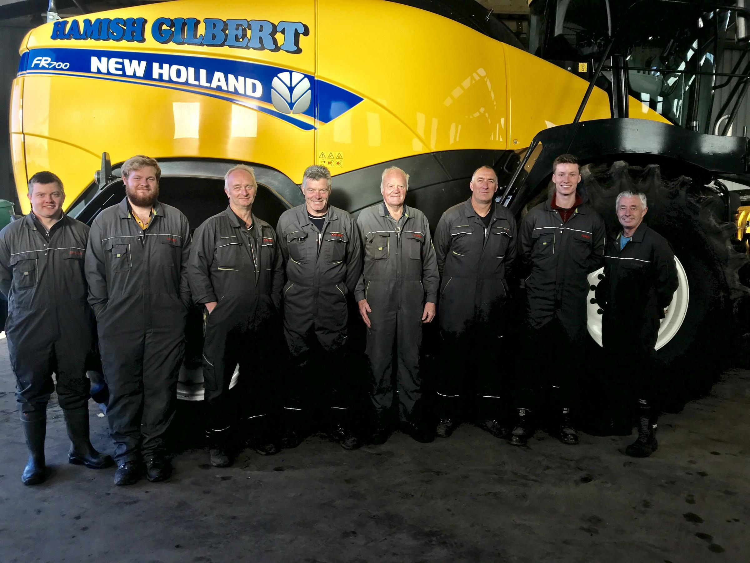 SOME OF the team, from left to right: Andrew Mackie, Matthew McConnell, Andy Stevenson, Hamish Gilber jnr, Hamish Gilber snr, Andrew Allan, Matthew Gilliland and Stewart Johnstone