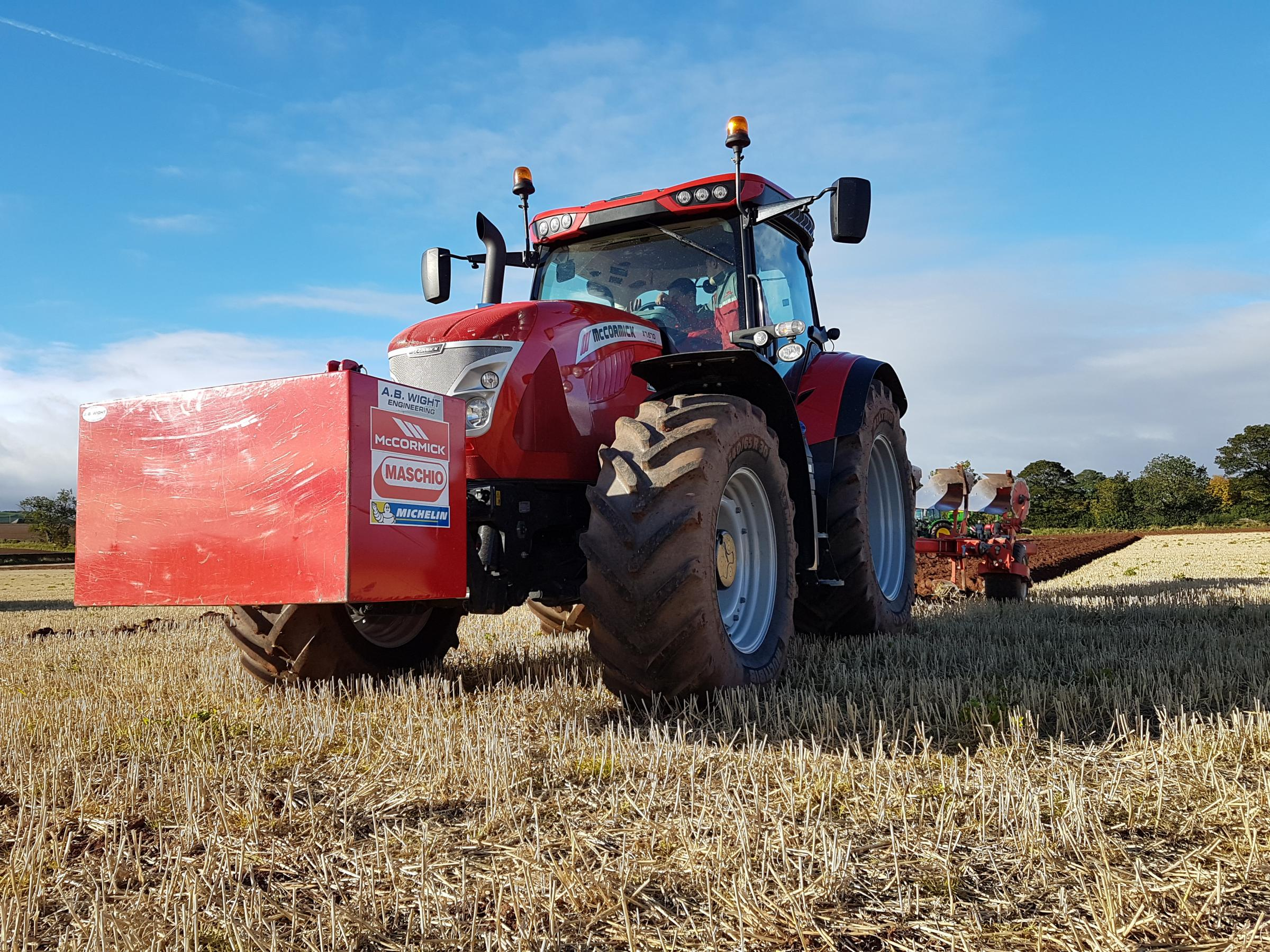 The new 206/225hp McCormick X7.690 P6-Drive at the Tillage-Live 2018 event working with a Maschio Unico plough also seen at the event for the first time