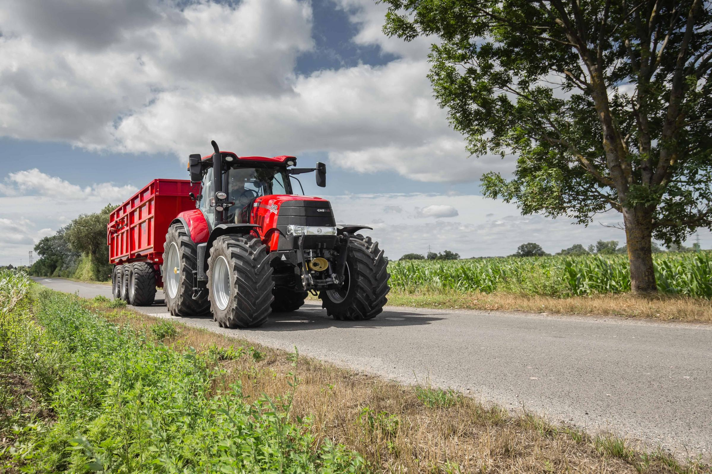 The new braking system on Case IH Pumas will make it safer to pull large towed implements in both field and road