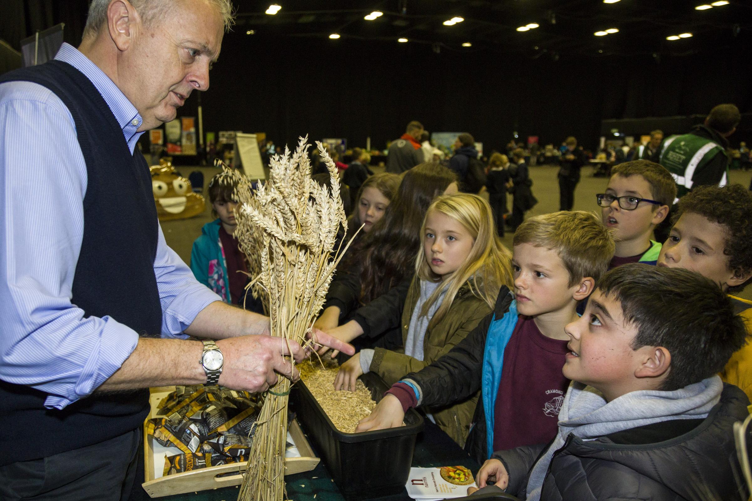Over 1000 pupils flocked to Ingliston showground for the RHET Lothian, food and farming days