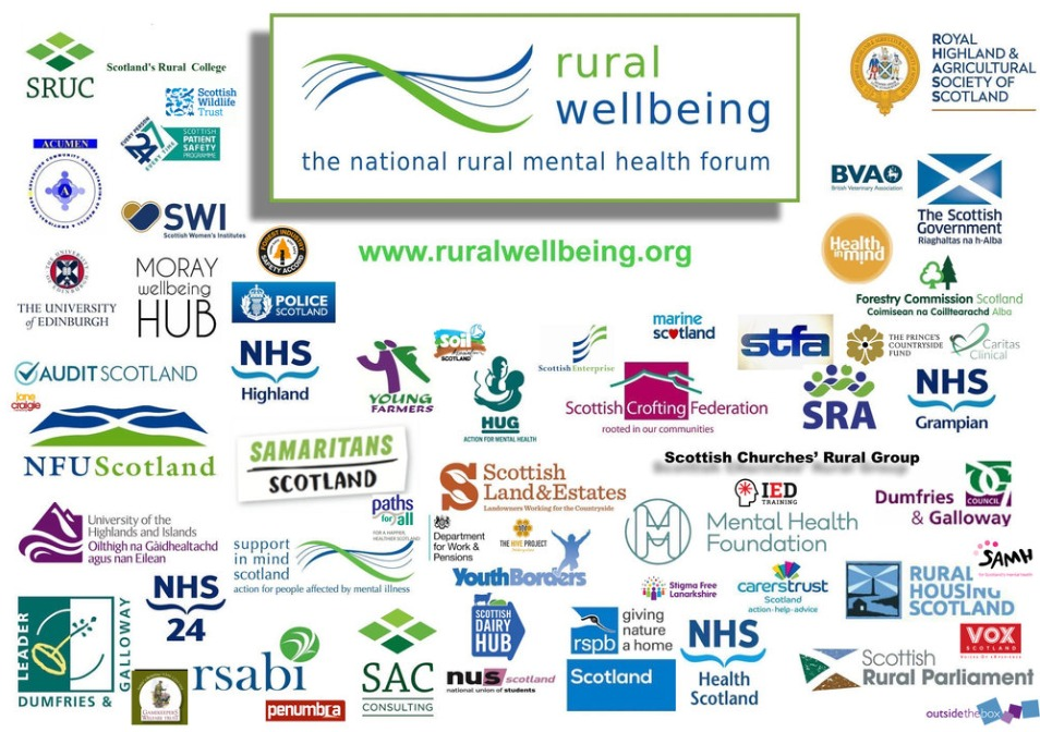 The National Rural Mental Health Forum is supported by over 50 organisations, many with expertise in tackling mental health issues and others that have memberships that reach out to all parts of rural Scotland