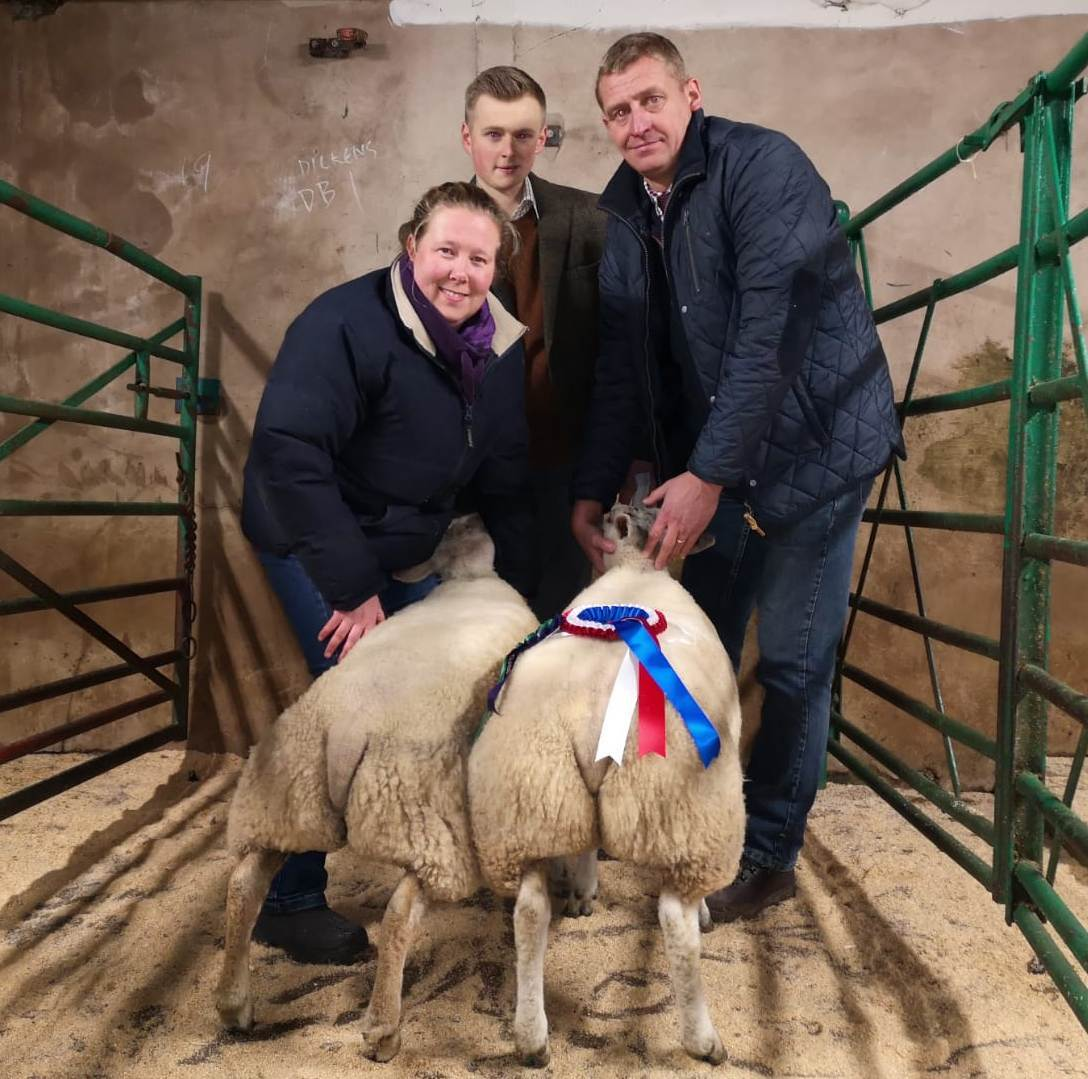 Dutch Texel cross lambs weighing 46kg from Susan Sowerby, Terry Farm, Ormside, claimed the champion honours and topped the trade at £165 when sold to judge, M Helliwell, Rochdale