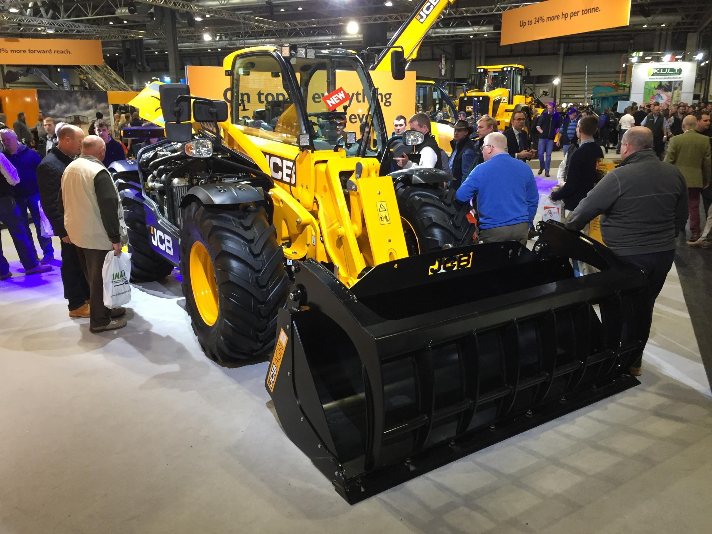 THE NEW JCB Loadalls with the CommandPlus cab were some of the stars of LAMMA