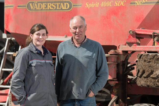 Rachel Young and her father Brian Matheson have again entered crops for the YEN competitions  Ref:RH240418026