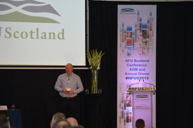 Gary Mitchell discusses mental health at NFU Scotland's annual conference