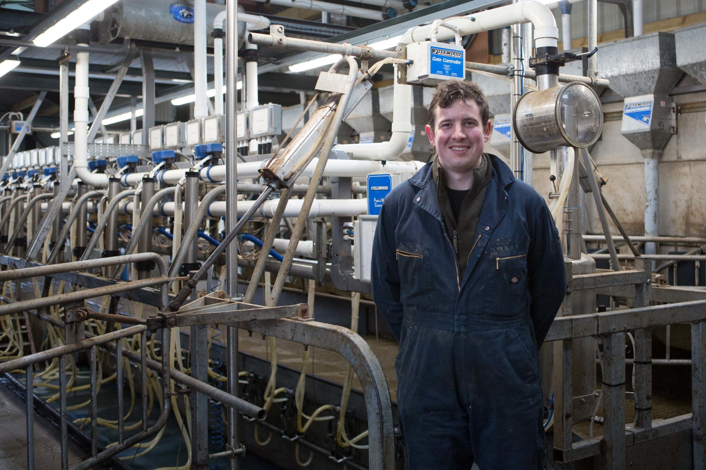 Colin Ferguson in front of his new parlour   Ref:EC52194505