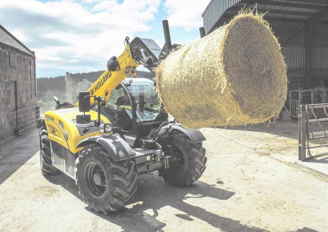 The distinctive new yellow livery is launched in New Holland's latest and bigger range oif telehandlers