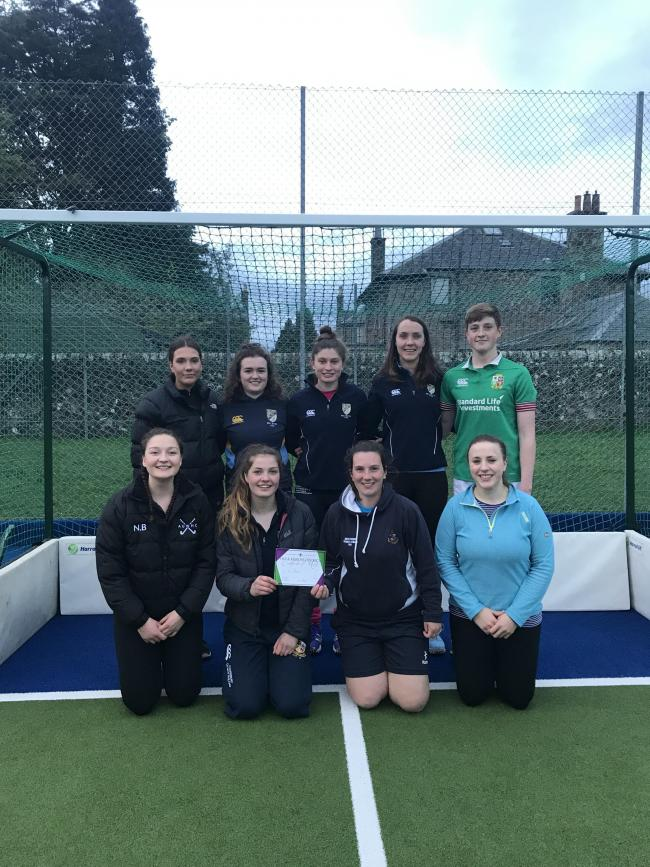 Winning the Fife and Kinross District hockey competitopm was the team from Bell Baxter ADS  Ref:EC260419498