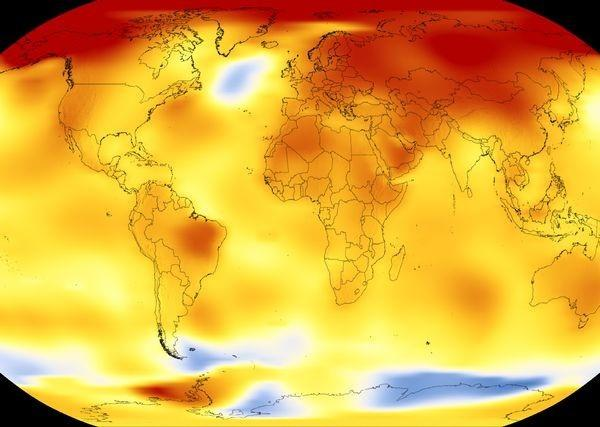 NASA's map of our warming world