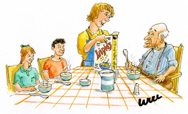 """Sprinkle some of this on your porridge grandad, it won't do you any harm - but it will be good for us!"""